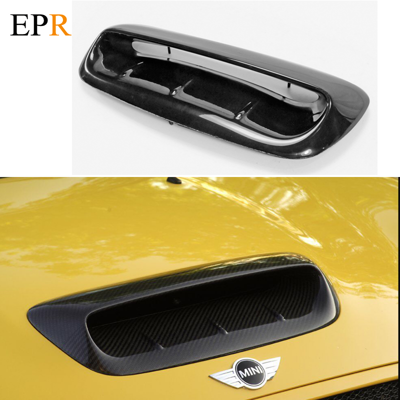 Car Accessories R56 FRP Fiber Glass Hood Scoop VTX Larger Car-Styling For MINI COOPER S R56 VTX Hood Scoop 2007~2014 Type A цены онлайн
