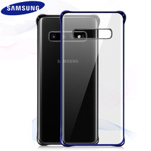 Original Samsung S10 Case Cover Clear Transparent Shockproof PC Hard Cover Protection SAMSUNG Galaxy S8 S9 S10 Plus S10e Case(China)