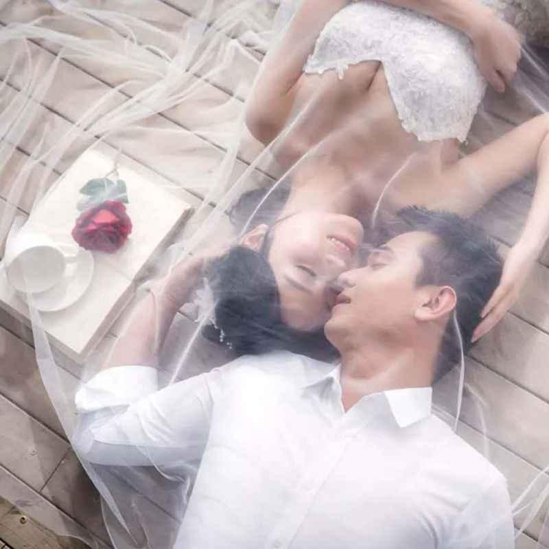 Hochzeit Kleid Zubehör Braut Schleier Einfache Extra Lange Schleppende Nude Garn Fotografie Reise Weichen Garne