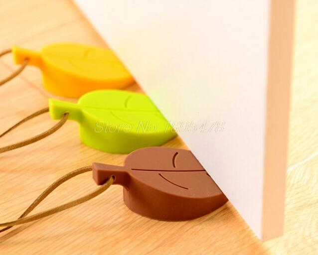 100PCS Silicone Rubber Door Stopper Cute Autumn Leaf Style Home Decor Finger Safety Protection Wedge Safe Doorways 50pcs new arrivel hot maple autumn leaf style home decor finger safety door stop stopper doorstop