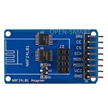 OPEN-SMART 2.4GHz Wireless Transceiver NRF24L01 Adapter Module 3.3V / 5V Compatible for Arduino