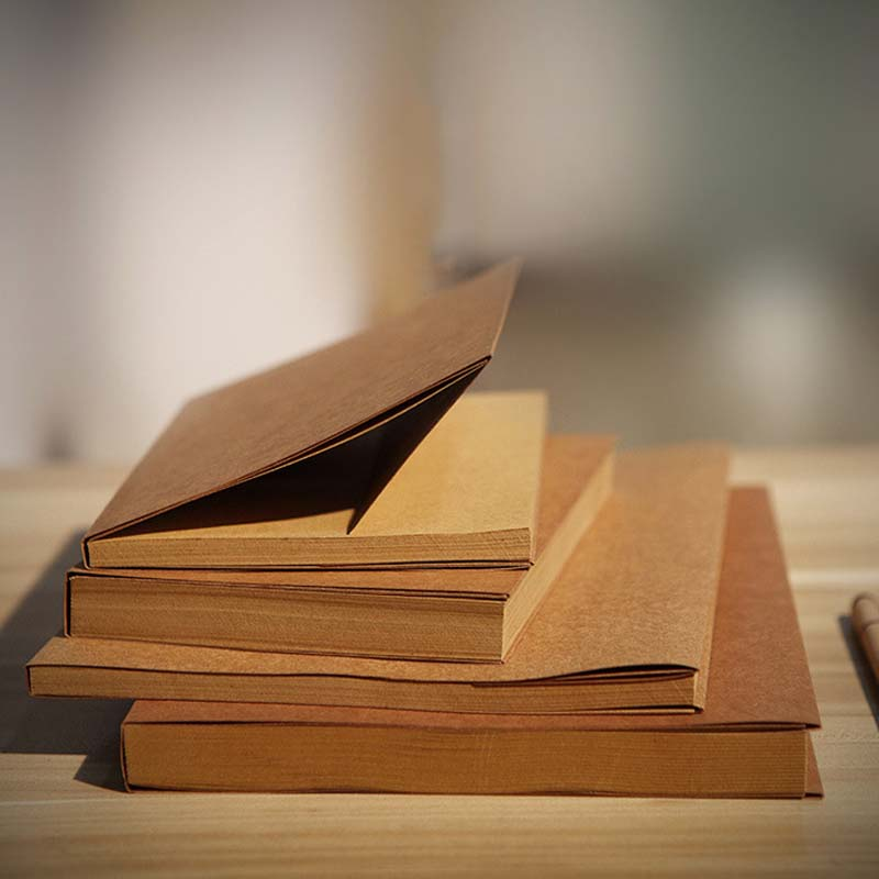 Coloffice 32K/66 Sheets Sketchbook Vintage Paper White Kraft Paper Blank Book Painting Graffiti Ben Notebook Stationery Supplies