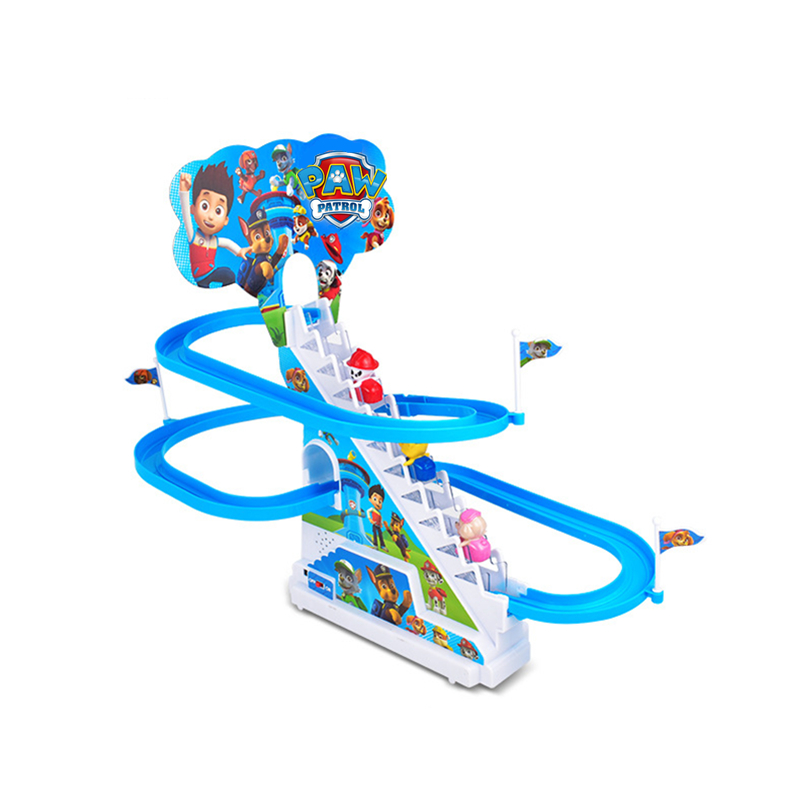 Paw Patrol Toys Dog Climbing Stairs Track Walk Electric Battery Light Music USB Charging Action Figures Toy For Children Gift