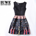 Girl Dress Summer 2017 Dresses For Girls Of 12 Years Sleeveless Printed Big Size Brand Princess Dress Teenagers Girls Clothes 14