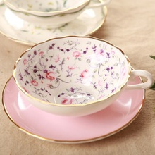 цена на English Afternoon Tea High-Grade Bone China Coffee Cup And Saucer Japanese Style Cup European cup Free Shipping