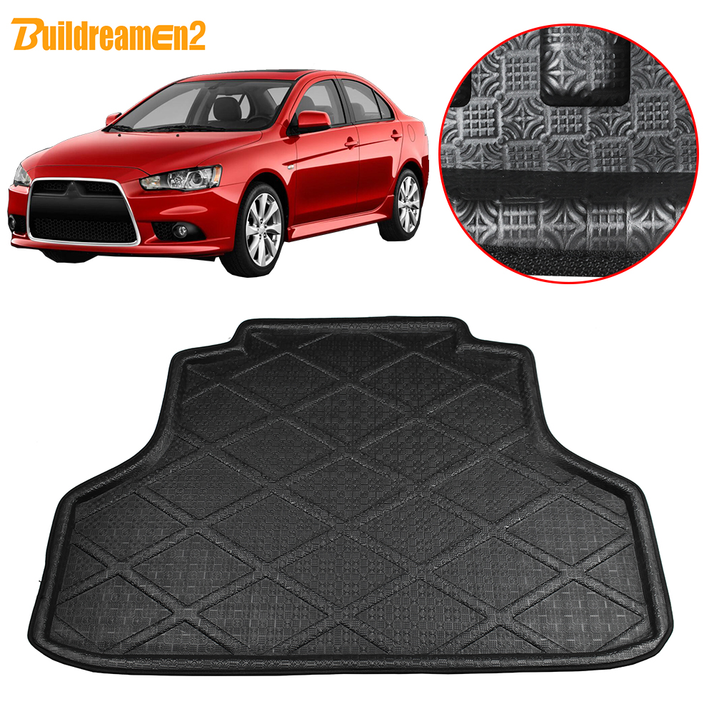 Buildreamen2 For Mitsubishi Lancer EX 2008 2017 Car Styling Trunk Mat Boot Tray Liner Floor Cargo Carpet Mud Protector Pad|  - title=
