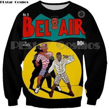 PLstar Cosmos Brand Women/Men 3d Print Pullover Fresh Prince of Bel Air Will Smith Printed Sweatshirt Long Sleeve Crewneck Tops