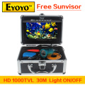 "Updated Eyoyo Original 30m Fish Finder Underwater Fishing Video Camera 7"" Color HD Monitor 1000TVL HD CAM Light Control Sunvisor"