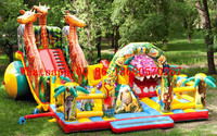 (China Guangzhou) inflatable slides, inflatable castles, Inflatable pool slide Obstacle course TOB 193