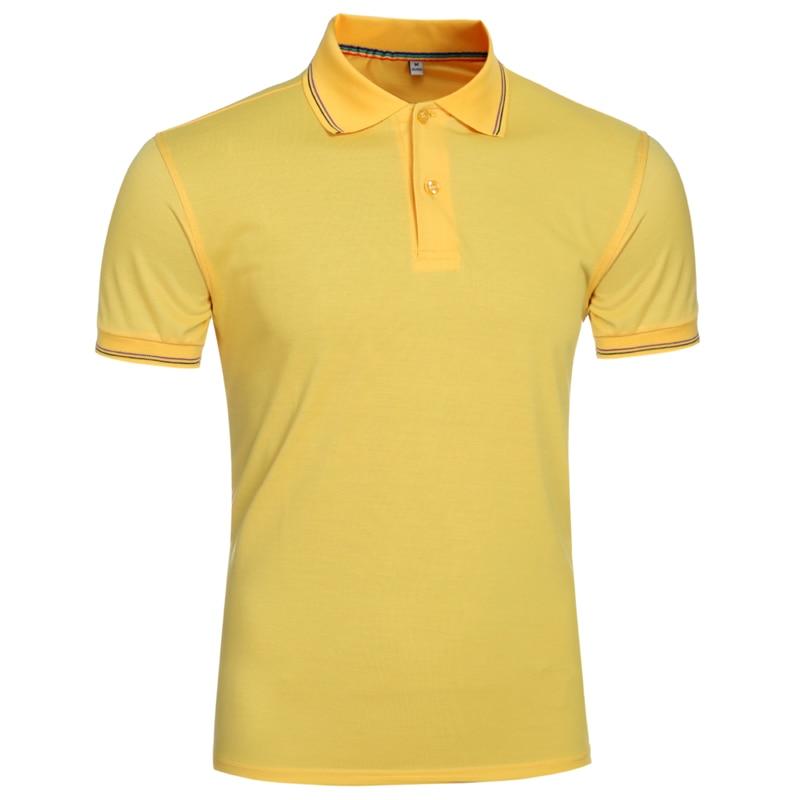 NEGIZBER 2019 New Summer Fashion Men's   POLOS   Shirt Solid Color Casual Top Slim Short Sleeve   POLOS   Shirt Men