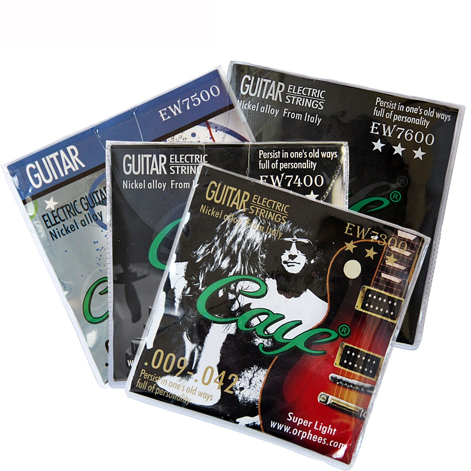 Orphee Caye-EW Series Electric Guitar Strings Set (.011-.050) (.010-.046)/(.009-.042)/(.009-.046) For Your Choice 6pcs/set