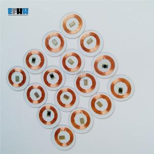 Image 1 - 125 KHZ TK4100/EM4100 שבב + סליל קוטר 25mm שקוף PVC מטבע כרטיס לקרוא רק RFID מזהה כרטיס בקרת גישה כרטיס