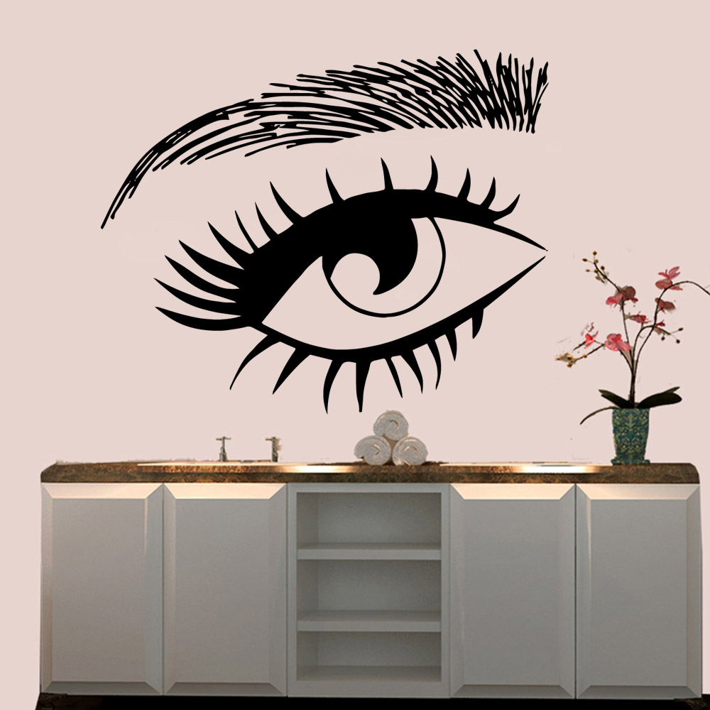 Diy eyes Wall Sticker Home Decoration Accessories Living Room Children Room Wall Decal Home Decor in Wall Stickers from Home Garden