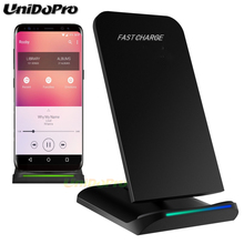Unidopro Qi Wireless Charger Pad for LG V30+ G6 VS985 D1L / LTE2 / G2 US Verizon Fast Wireless Charging Docking Dock Station(China)