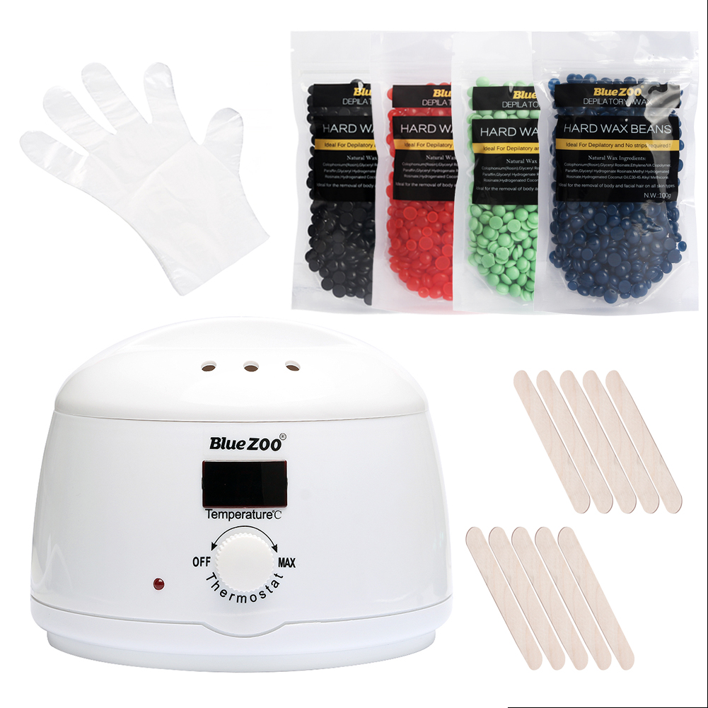 Depilation Wax Machine Hair Removal Bikini Heater Pellet Waxing Equipment Brazilian Bean Pearl Wax Beauty Health Tools Set Kit