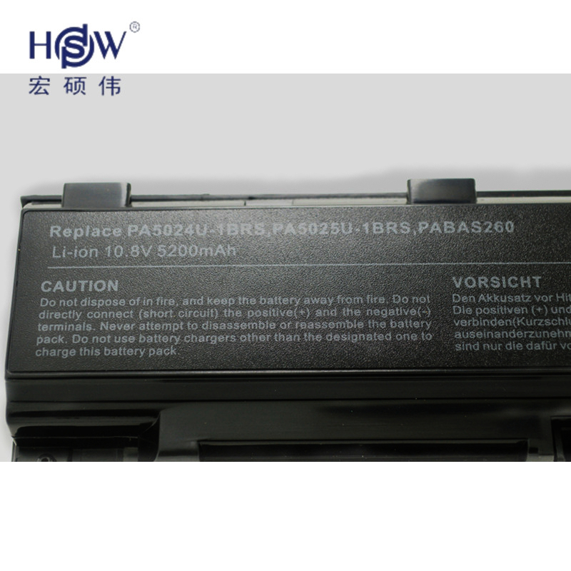 HSW 6CELLS Laptop Battery for Satellite C805 C805D C840 C840D C845 C845D C850 C850D C855 C855D C870 C870D C875 C875D PA5024 in Laptop Batteries from Computer Office