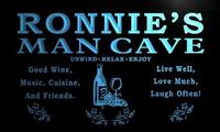 x0158-tm Ronnie's Man Cave Wine Beer Bar Custom Personalized Name Neon Sign Wholesale Dropshipping On/Off Switch 7 Colors DHL