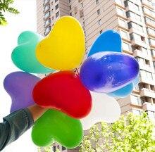 Latexové nafukovací balóny ve tvaru srdce, 10 ks/bal