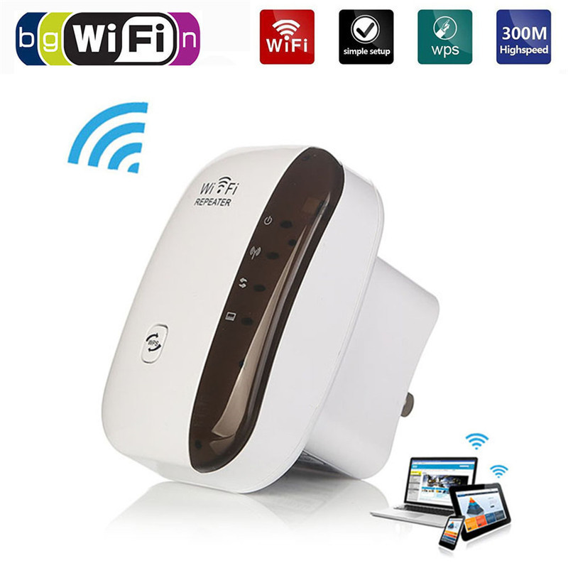 Wireless Wifi Amplifier Repeater Wifi-Extender 300mbps Access-Point B/g-Booster Drop-Ship title=
