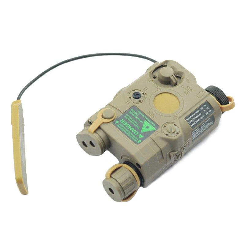 AN/PEQ-15 rojo punto láser blanco LED linterna 270 lúmenes para el Rifle de caza de visión nocturna estándar de 20mm caja de la batería elemento - 3