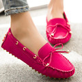 2016 Nubuck Leather Casual Candy Colors Lace Tassel Boat Shoes Cow Muscle Outsole Round Toe Women Flat Shoes DSS502