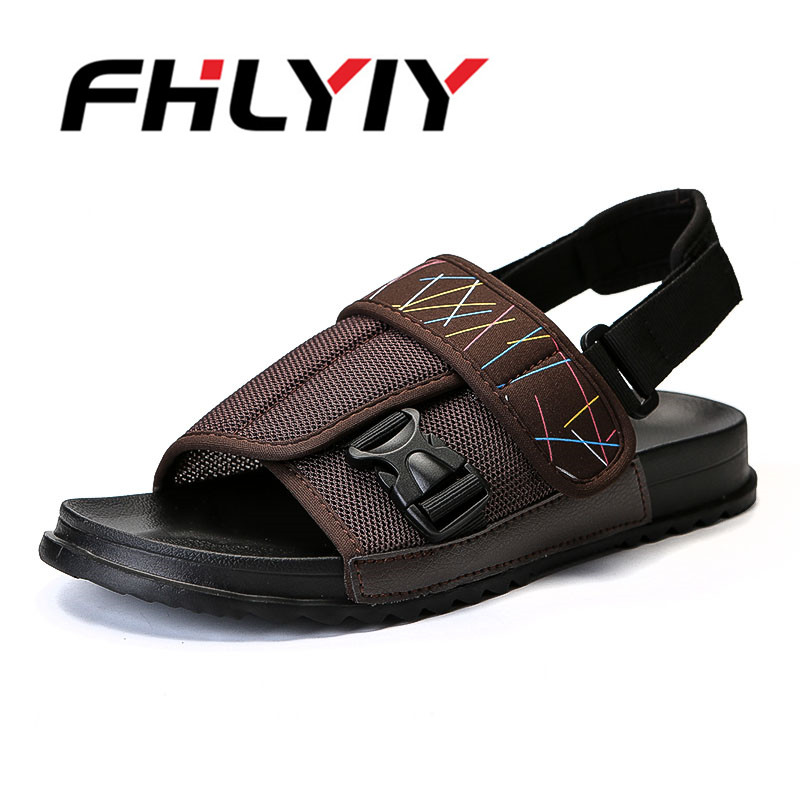 Men Sandals Summer Slippers Shoes Slide Fashion Beach Sandals Casual Flat Slip on Flip Flops Men Flat Breathable Outdoor Shoes