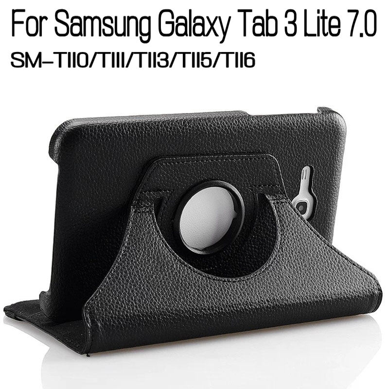 360 Degree Rotating Stand Smart PU Leather Cover Case for Samsung Galaxy Tab 3 Lite 7.0 T110 T111 T113 T115 T116 Tablet+Film+Pen rotary 360 degree rotating litchi folio stand pu leather magnet smart cover case for samsung galaxy tab s3 9 7 t820 t825 tablet