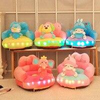 Baby Soft Glowing Music Plush Chair Seat Cartoon Animal Anti Fall Sofa Cute Infant Stuffed Children Sofa Kids Birthday Gift