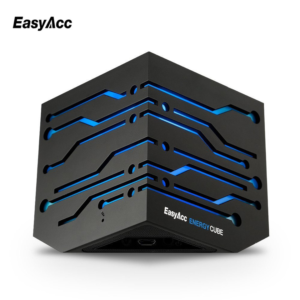Easyacc Bluetooth speaker metal wireless portable 3D stereo sound system MP3 music audio player AUX with MIC for android iphone