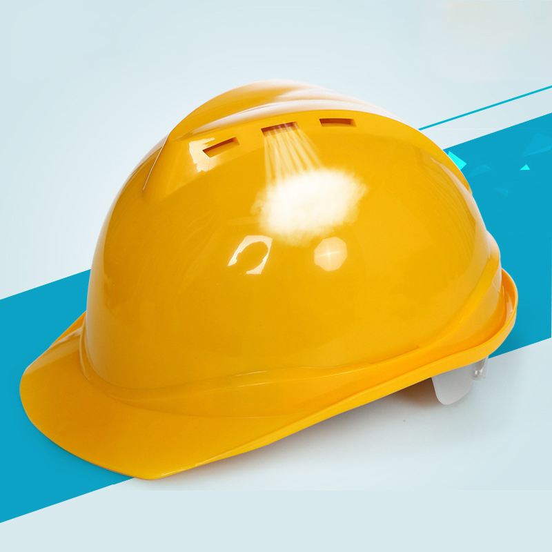 Blue White Yellow Red V-Type Hard Hat Safety Helmet Construction Engineer Protective ABS Working Helmet Job Site Breathable Cap