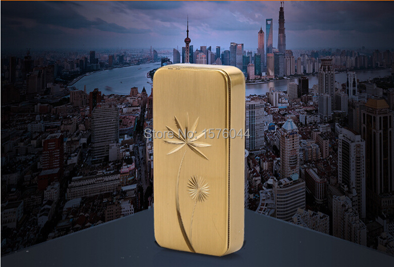 1PC Wholesale safe and convenient USB charging lighter exquisite small dandelion relief electronic cigarette lighter E4098