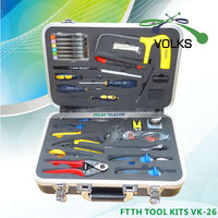 26 In 1 Fiber Optic FTTH Tool Kit With Cutter Clouser And Loose Tube Stripper Free