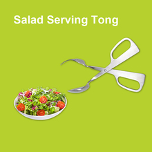 Stainless Steel Barbeque Food Salad Scissor Serving Tong Spoon Fork Tools Kitchen Gadgets