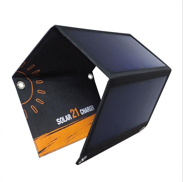 15W 5V Foldable Solar Panel Charger Bag for phone USB Port for Cellphone Waterproof Backpack outdoor