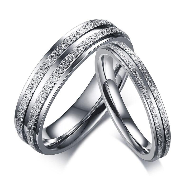 Любовь Навсегда Обручение кольца для Для женщин Для мужчин Нержавеющаясталь кольца обручальные кольца Пары обещание палец кольцо