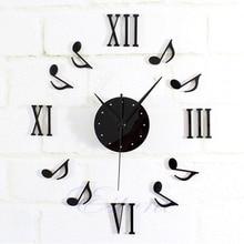 New 1pc Modern DIY Music Note Mirror Surface font b Wall b font font b Clock