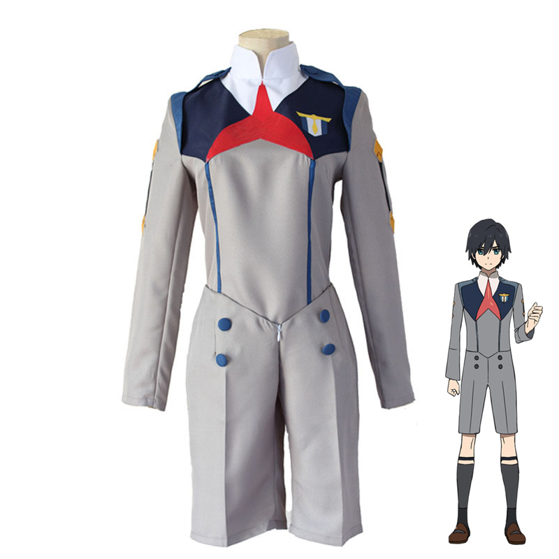 Anime DARLING in the FRANXX Hiro Cosplay Costume CODE 016 Men & Women Halloween Party Role Play Uniform