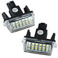 Audew Error 2x 18 LED 6000k License Number Plate Lights Lamp for Toyota Camry Yaris For Hybrid