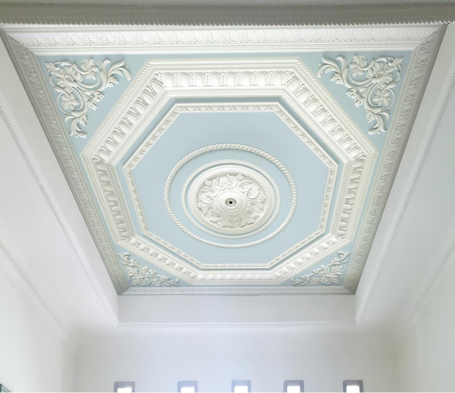 Custom Made 3d Ceiling Wallpaper European Pattern Plaster Relief Wallpaper For Bedroom Walls 3d Wallpaper For Ceiling