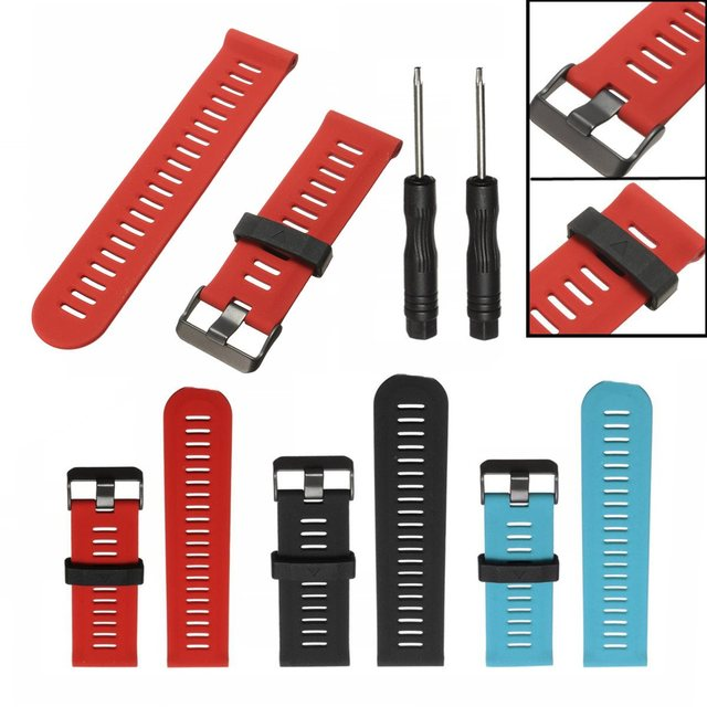 26mm Width Colorful Outdoor Sport Silicone Wrist Strap Replacement Watchband With Tools For Garmin Fenix 3 Watch Accessories