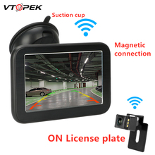 цены 5 Inch TFT LCD HD Digital Wireless Car Monitor Display Cameras Reverse Camera Parking System for Car Rearview Monitors NTSC PAL