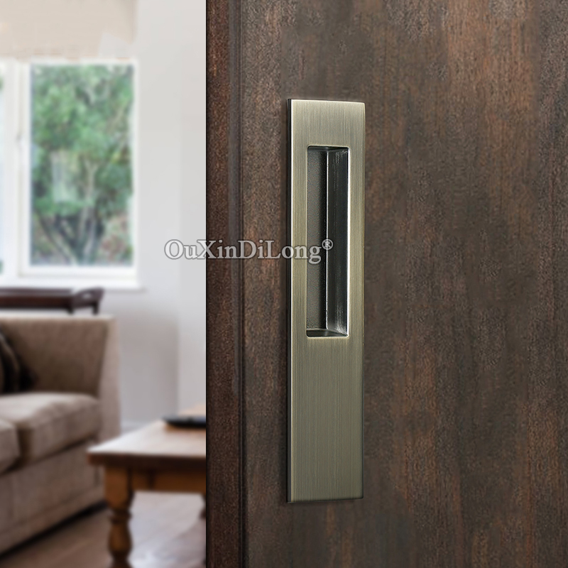 Brand New 1Pair European Recessed Sliding Door Handles Hidden Invisible Cupboard Wardrobe Cabinet Push / Pull Handles 3 Colors