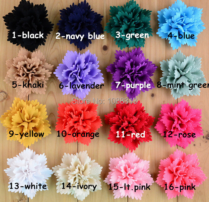Free Shipping 20PCS/Lot Mixed Color Jewelry Headband Flowers Flatback DIY Todder Elastic Hair Band Decoration Fabric Flowers