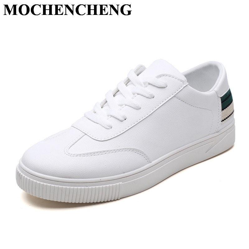 New White Shoes for Men Causal Shoes Spring Summre Breathable Lace-up Flat Shoes Soft Comfortable High Quality Leisure Shoes