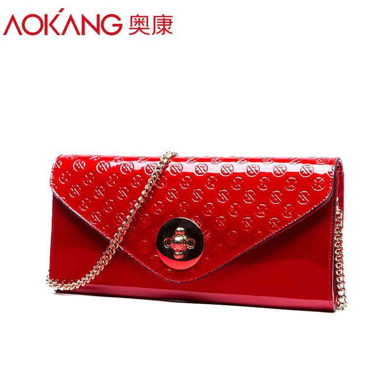 Aokang 2016 New Arrival Women Leather  Famous Brand Handbag Bolsas Couro De Festa Femininas Bolsos Marca Free Shipping мужской ремень cinto couro marca