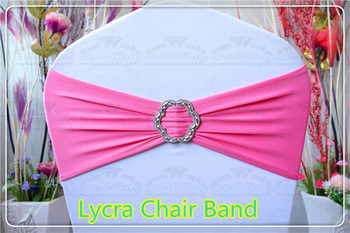 2/2--With Rose Buckle- Spandex/Lycra/Expand Bands/Chair cover sash/Tablecloth For Wedding Party Banquet Decorations