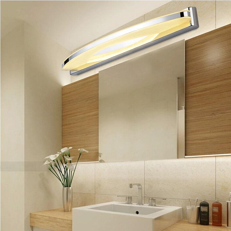 Modern Chorme Long LED Bathroom Mirror Wall Light Lamp stainless ...