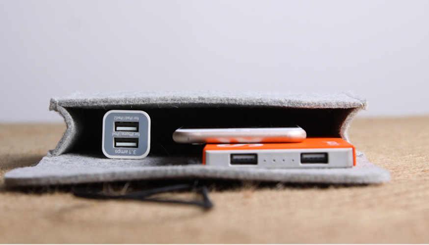 Мини-фетр, сумка power Bank, сумка для хранения данных, кабель для мыши, органайзер для путешествий, органайзер для кабеля, сумка-Органайзер, Trousse De toilet Home 60XX