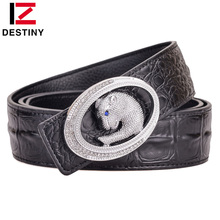 DESTINY Luxury Famous Brand Designer Belts Male Genuine Leather Strap Waist Men Belt Wedding Jeans Fashion Crocodile Leopard все цены