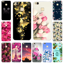 Cute Painted TPU Case For Hauwei P9 Lite Soft Silicone Coque Huawei P 9 Back Cover 2016